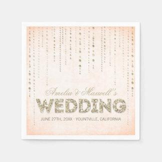 Servilletas del boda de la mirada del brillo del servilletas de papel