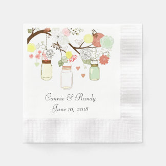 Servilletas del boda de papel del tarro de albañil servilleta desechable