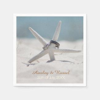 Servilletas del boda de playa de las estrellas de servilletas de papel