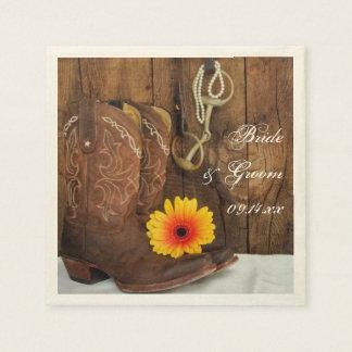 Servilletas del boda del país del pedazo de las bo servilleta de papel