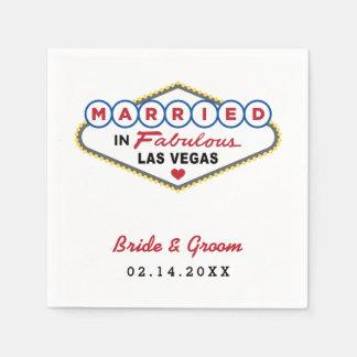 Servilletas del boda el | casado en Las Vegas Servilletas De Papel