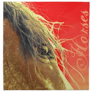 ¡Servilletas del caballo, paño, ENORME grande del Servilletas Imprimidas
