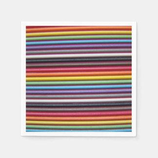 Servilletas del cable de cinta del arco iris servilletas desechables