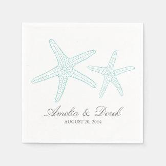 Servilletas del cóctel de las estrellas de mar de servilletas de papel