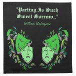 Servilletas del cóctel de Shakespeare de la máscar