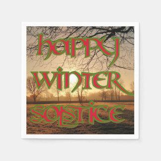 Servilletas del cóctel del solsticio de invierno servilletas desechables