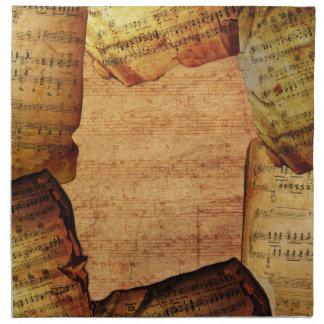 Servilletas del compositor del vintage