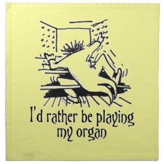 Servilletas del dibujo animado del órgano - crema