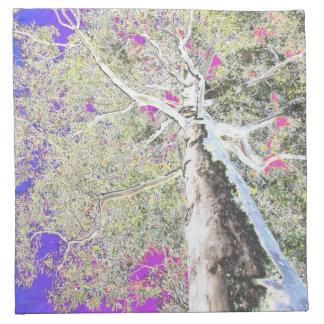 servilletas del diseño, árbol de goma loco