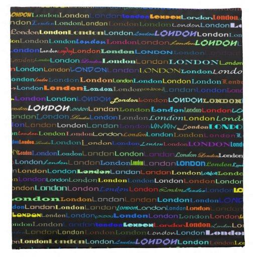 Servilletas del diseño I del texto de Londres