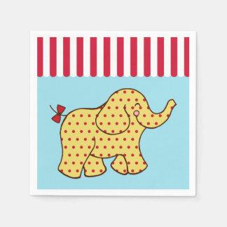 Servilletas del elefante del circo servilleta de papel