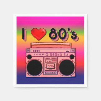 servilletas del fiesta de Boombox de los años 80 Servilleta Desechable