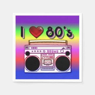 servilletas del fiesta de Boombox de los años 80 Servilletas Desechables