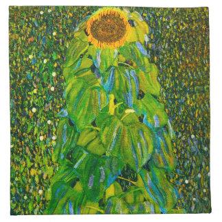 Servilletas del girasol de Gustavo Klimt