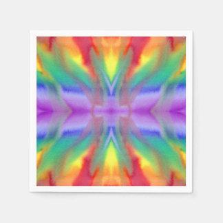 Servilletas del giro del arco iris servilleta desechable