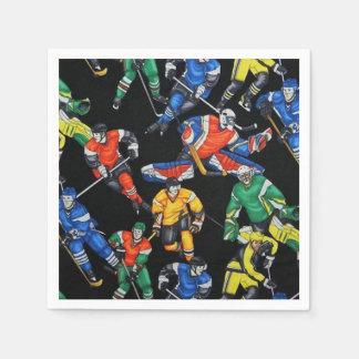 Servilletas del hockey sobre hielo de la estación servilletas desechables