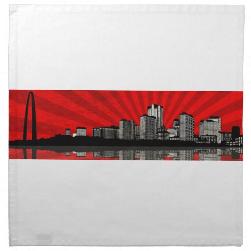 Servilletas del horizonte de St. Louis (rojas)