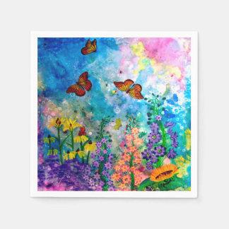 Servilletas del jardín de la mariposa servilletas desechables