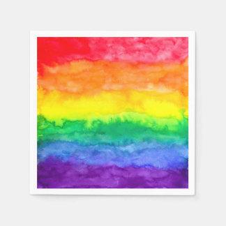 Servilletas del lavado del arco iris servilleta desechable