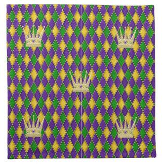 Servilletas del modelo w/crowns del Harlequin del
