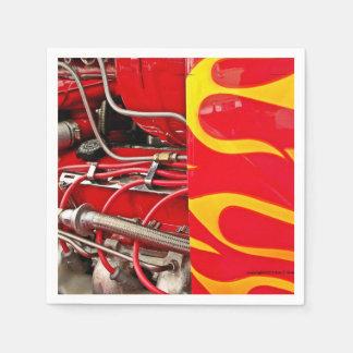 Servilletas del motor del coche de carreras servilletas desechables