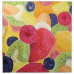Servilletas del paño de la ensalada de fruta