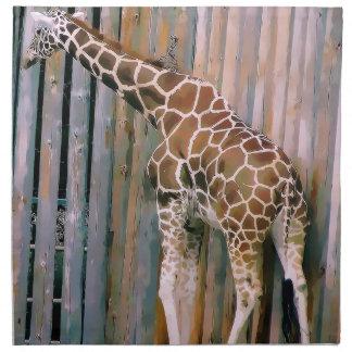 servilletas del paño de la jirafa