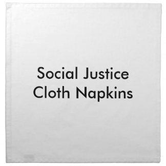 Servilletas del paño de la justicia social