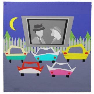 Servilletas del paño de la película del autocinema