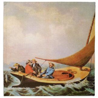 Servilletas del paño de la pesca del océano