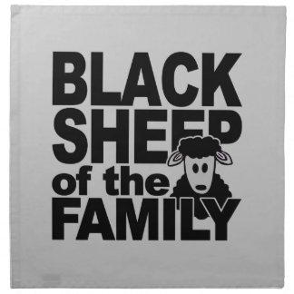 Servilletas del paño de las ovejas negras