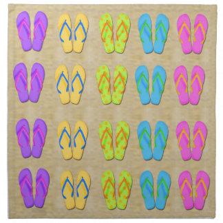 Servilletas del paño de los flips-flopes