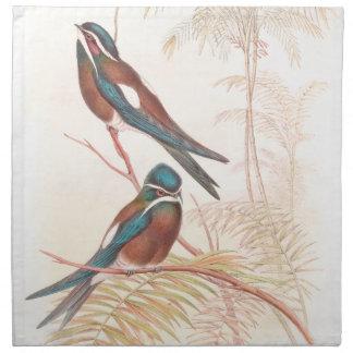 Servilletas del paño de los pájaros del trago de