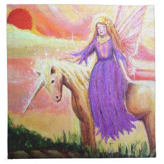 Servilletas del paño del ángel y del unicornio - p