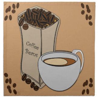 Servilletas del paño del diseño de la taza de café