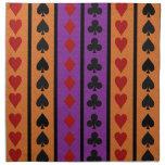 Servilletas del paño del jugador de tarjeta