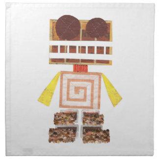 Servilletas del paño del robot del chocolate