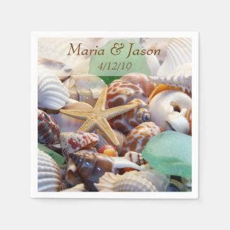 Servilletas del personalizado de los Seashells Servilletas De Papel