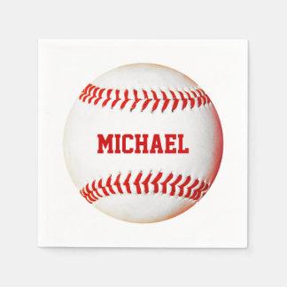 Servilletas del personalizado del béisbol servilletas de papel