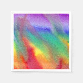 Servilletas del remolino del arco iris servilletas desechables