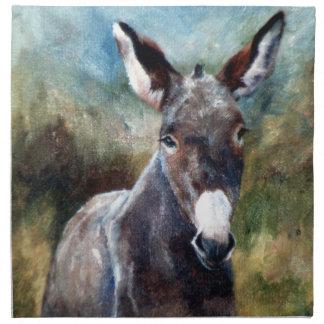 Servilletas del retrato del burro