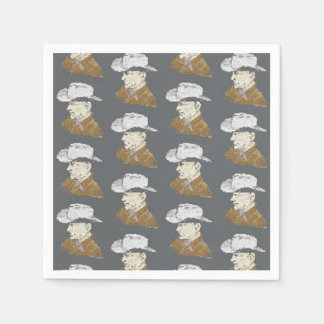 Servilletas del vaquero servilletas desechables