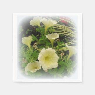 Servilletas disponibles de las petunias servilleta desechable