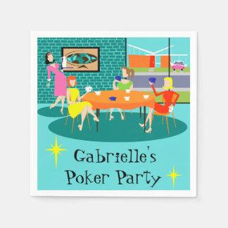 Servilletas disponibles del juego de la tarjeta de servilletas desechables