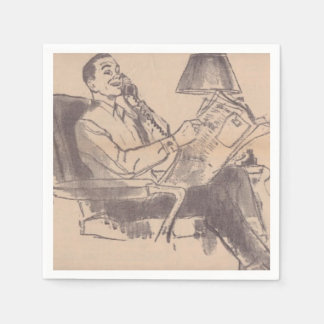 Servilletas disponibles del papá del periódico del servilletas de papel