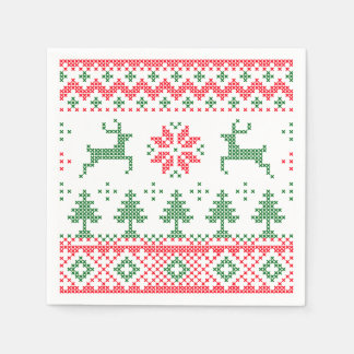 Servilletas divertidas del reno del navidad servilleta desechable