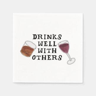 Servilletas divertidas vino y humor del alcohol de servilletas de papel