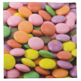 Servilletas dulces del paño de los caramelos