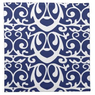 Servilletas elegantes del cóctel de los azules
