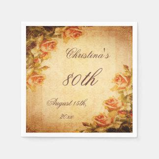 Servilletas elegantes lamentables de los rosas del servilletas de papel